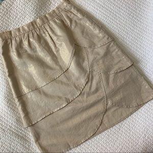edmé & esyllte Gilded Lily gold petal skirt sz 0